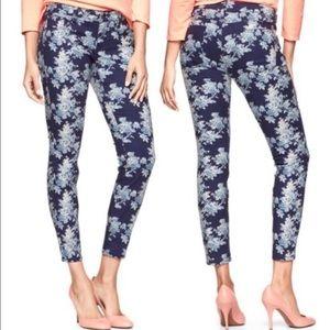 Gap 1969 floral skinny  jeans Sz 25/o